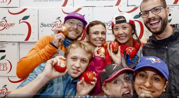SweeTango fans at Toronto Marathon