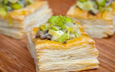 Creamy Leek and Mushroom Vol au Vents