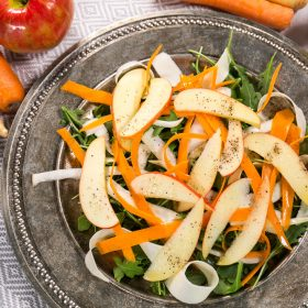Photo of carrot parsnip apple salad