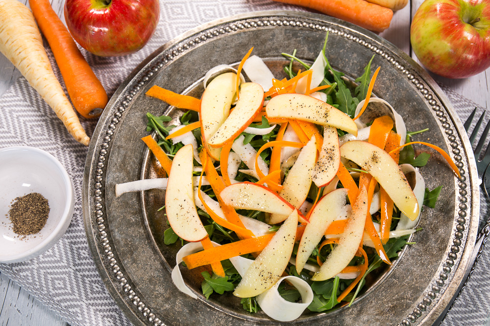 Carrot, Parsnip and Apple Salad