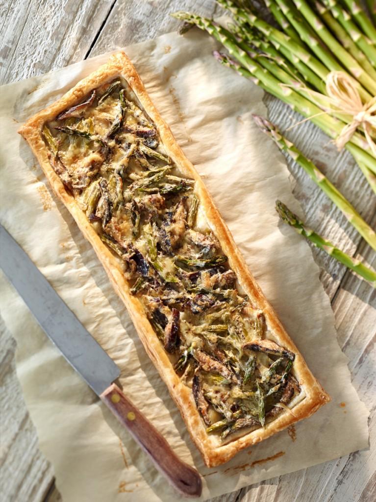 Ontario Asparagus and Mushroom Tart