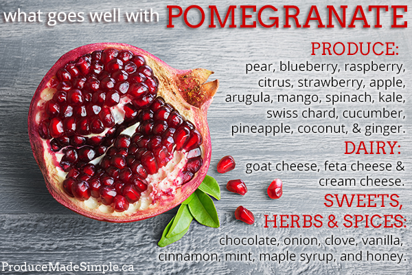 What goes well with pomegranate