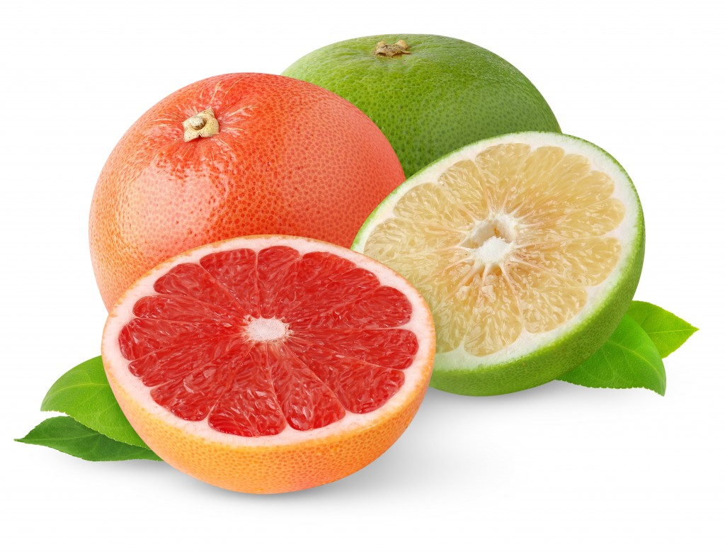 Red and White Grapefruit