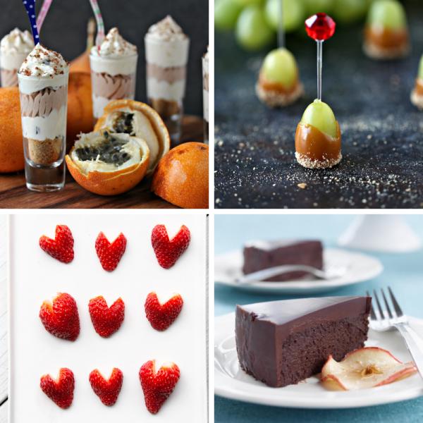 valentine day desserts collage