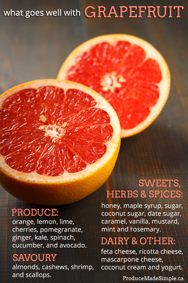 Grapefruit goes well with so many things! View our infographic to see what to pair with grapefruit!