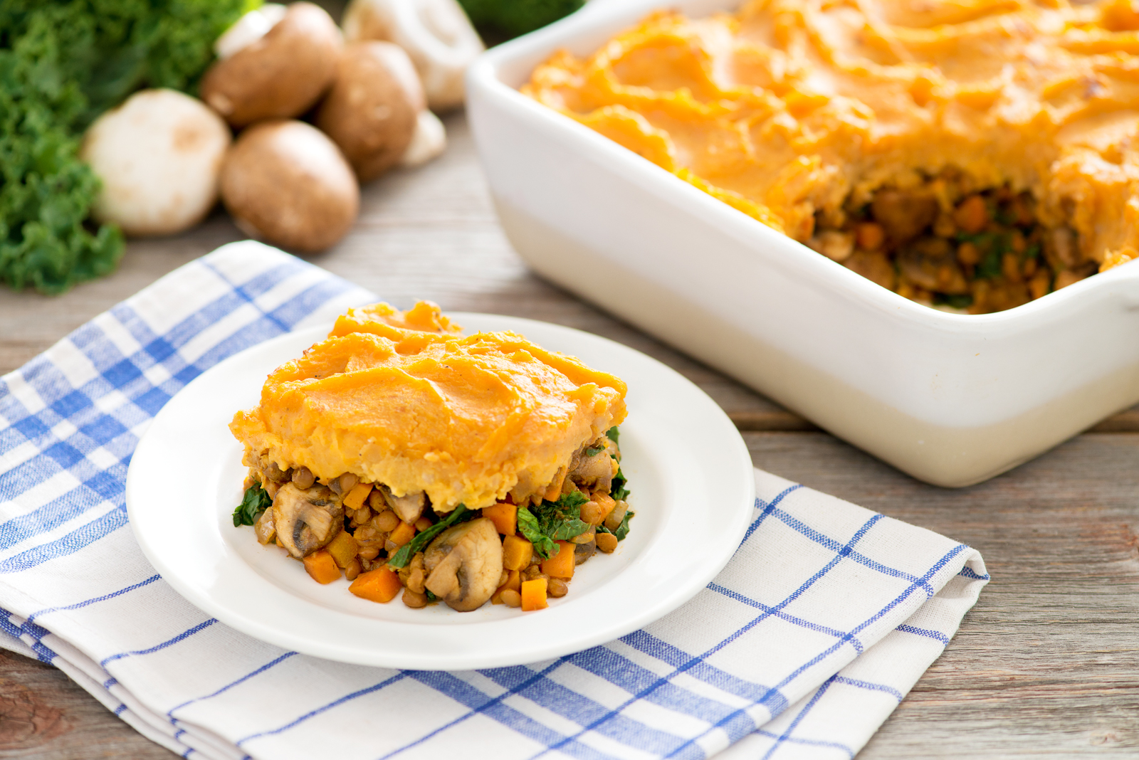 Curry, Mushroom & Lentil Shepherd's Pie - Produce Made Simple