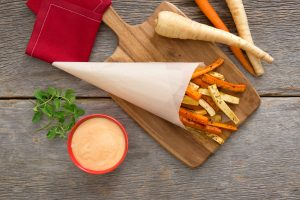 Oven Roasted Parsnips and Carrots