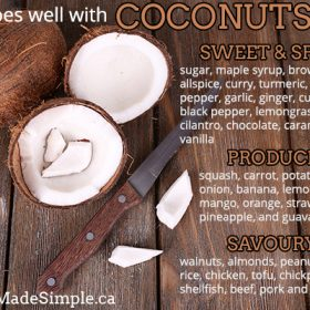 What Goes Well with Coconuts?