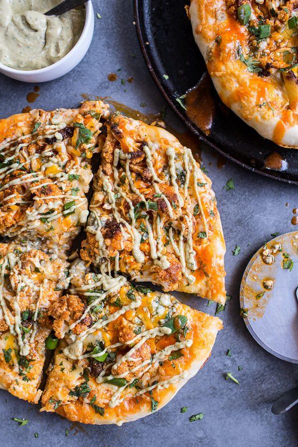 Buffalo Roasted Cauliflower Pizza from Half-Baked Harvest