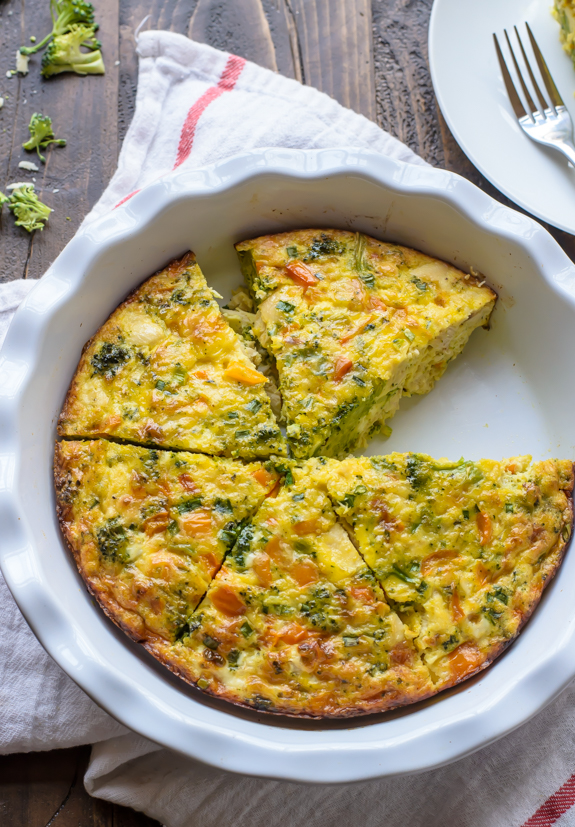 Cheesy Chicken and Broccoli Frittata from Well Plated