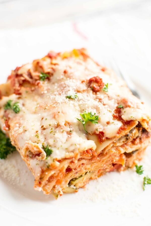 Veggie Cheese Lasagna from Crockpot Gourmet