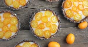 Kumquat and Coconut Cream Tarts