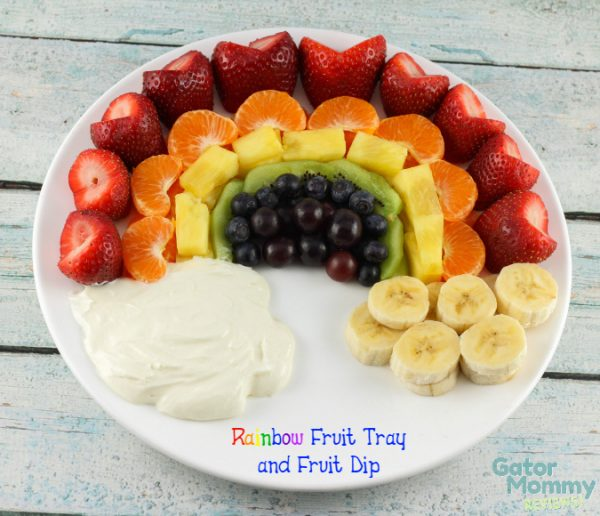 Rainbow Fruit Tray from Gator Mommy Reviews