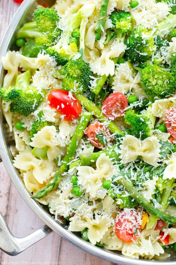 Springtime Veggie Primavera Pasta from Whole and Heavenly Oven