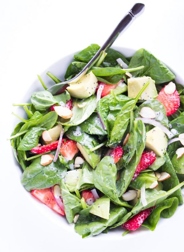 Strawberry-Avocado-Spinach-Salad-with-Poppyseed-Dressing-6