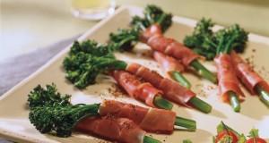 Prosciutto-Wrapped Broccolini Appetizers