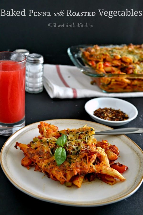 Baked Roasted Vegetable Pasta from Shweta In The Kitchen