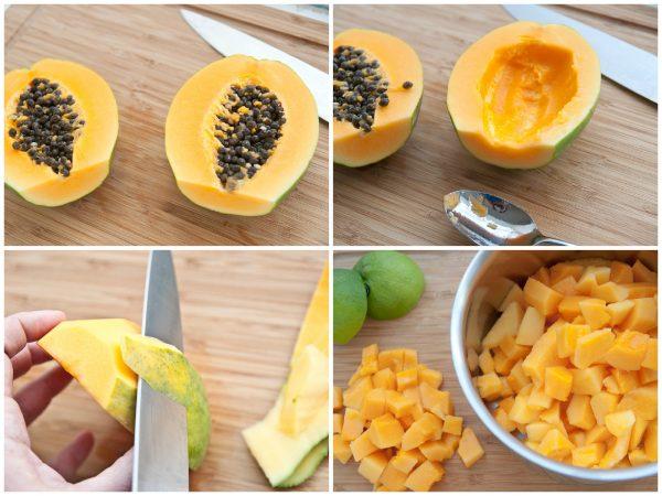 Chopping Papaya