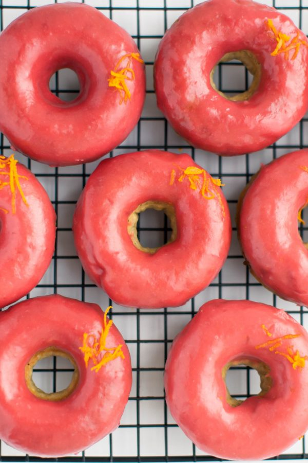Orange-Rhubarb-Glazed-Donuts-683x1024