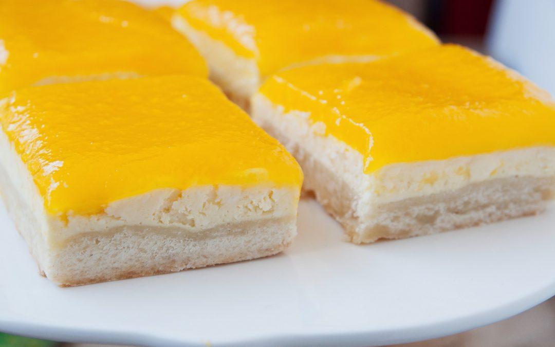 Papaya Cheesecake Bars