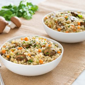 Barley Risotto with Ontario Mushrooms