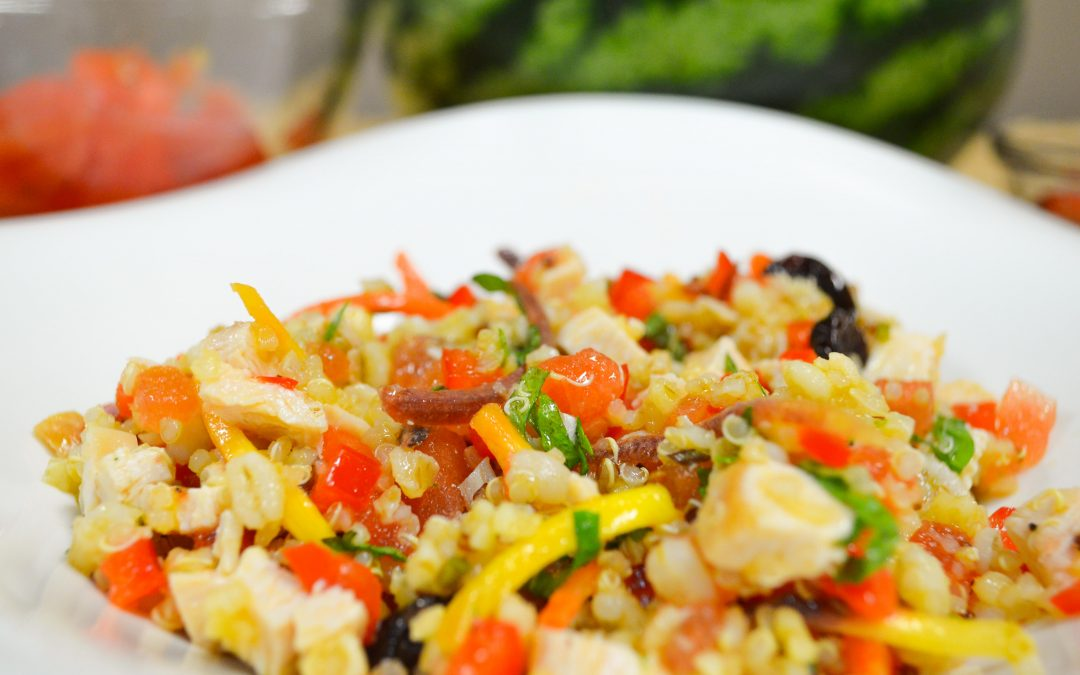 Chicken, Watermelon, Quinoa & Mint Salad