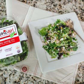 Baby Spring Mix, Quinoa and Pea Salad