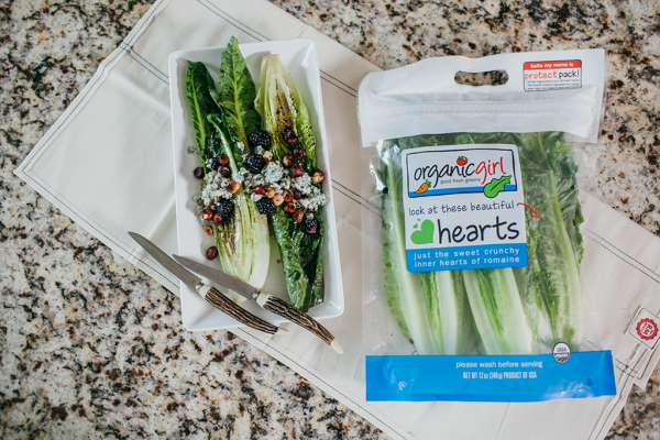 Grilled hearts of romaine