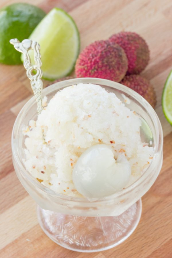 Lychee Lime Granita by The Viet Vegan on Produce Made Simple