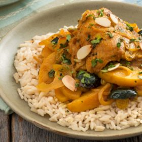 Chicken and Nectarine Tagine