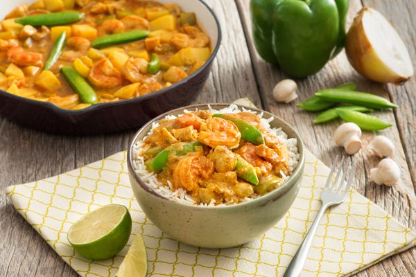 Creamy Shrimp and Vegetable Curry-029