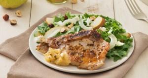Honey-Glazed Pork Chops with Pear Chutney & Pear Fennel Salad