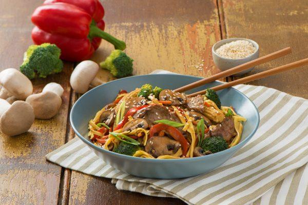 Veggie-Loaded Beef Chow Mein