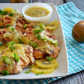 Grilled Chicken with ZESPRI® SunGold Kiwi Ginger Sauce