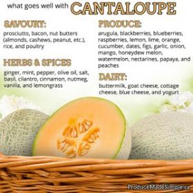 What goes well with cantaloupe