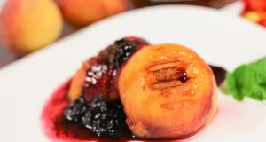 Grilled Ontario Peaches and Mascarpone Cheese