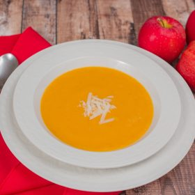 apple, squash, sweet potato soup