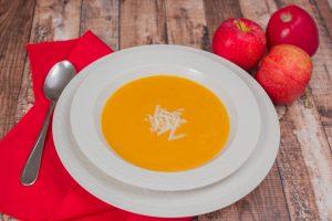 apple, squash, sweet potato soup