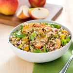 Roasted Apple Quinoa and Wild Rice Salad