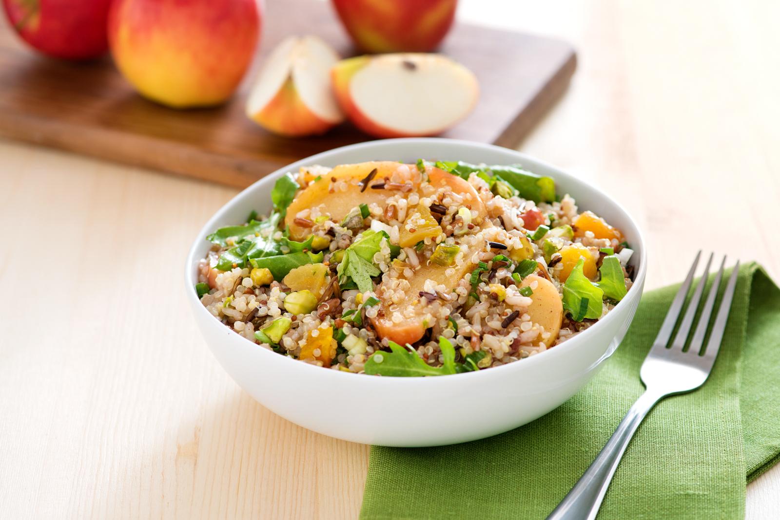 Roasted Apple, Quinoa & Wild Rice Salad - Produce Made Simple
