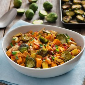 Roasted Vegetable Medley with Pancetta