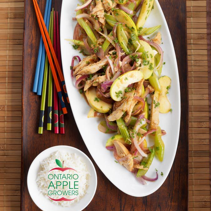Saucy Chicken Apple Sauté