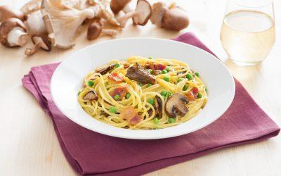 Spaghetti Mushroom Carbonara