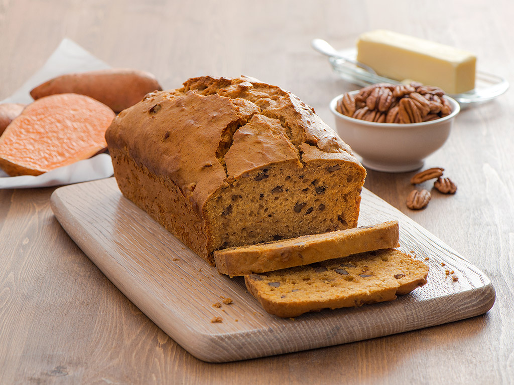 Sweet Potato Bread with Pecans - Produce Made Simple