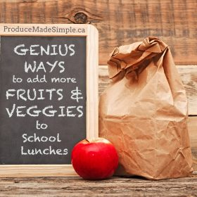 Genius Ways To Add MORE Fruits and Veggies to School Lunches