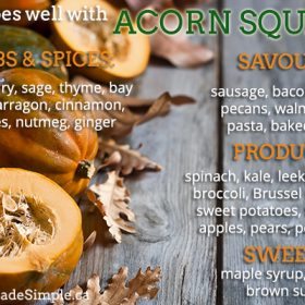 What Goes Well With Acorn Squash?