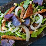 Grilled Purple Potato and Steak Salad