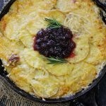 Skillet Cranberry Scalloped Potatoes