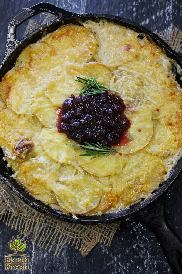 Skillet Cranberry Scalloped Potatoes