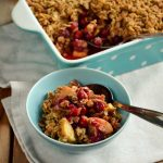 Spiced Cranberry Apple Crumble